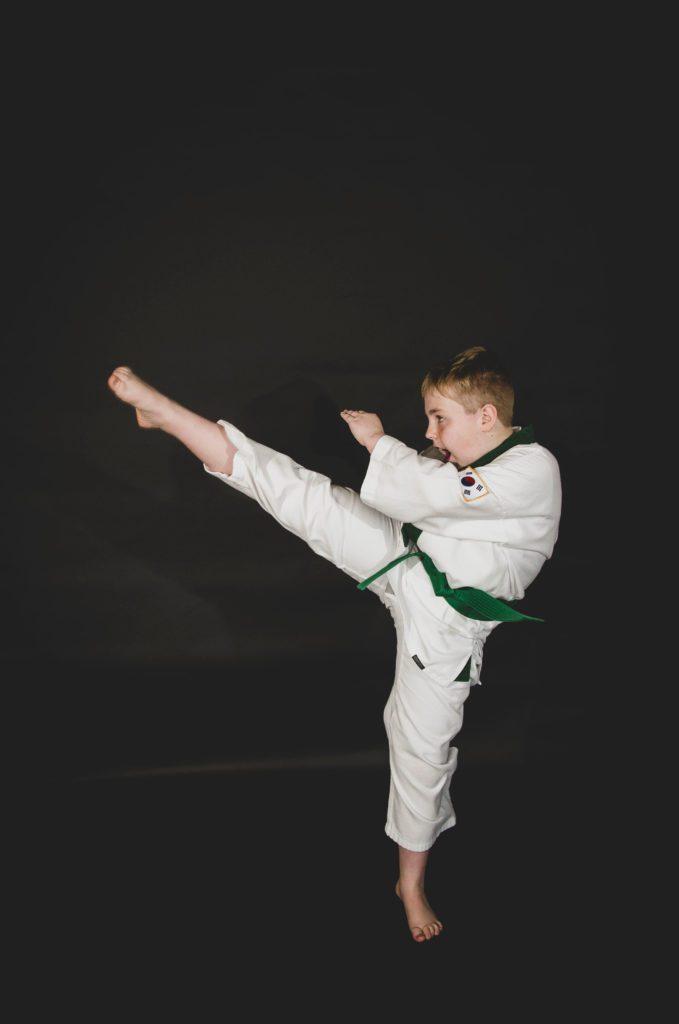 Martial Arts Student Kicking